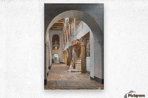 View of the Church of San Lorenzo fuori le Mura  Metal print