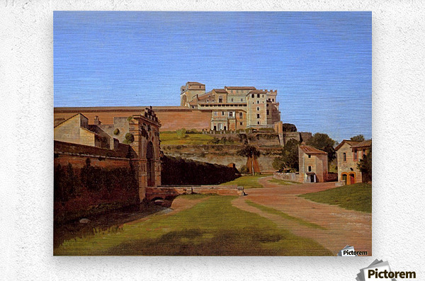 Rome, Porta Angelica and part of the Vatican, 1813  Metal print