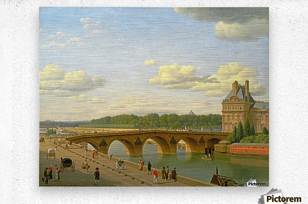 View at Pont Royal from Voltaire Quai in Paris  Metal print