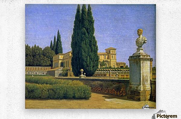 In the Gardens of the Villa Albani  Metal print