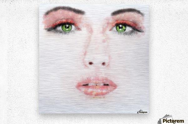 Kessania - white face  Metal print