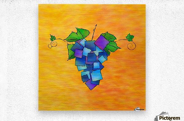 Jamurissa - square grapes  Metal print