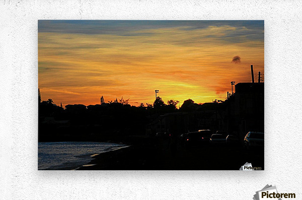 St Kitts Basseterre sunset  Metal print