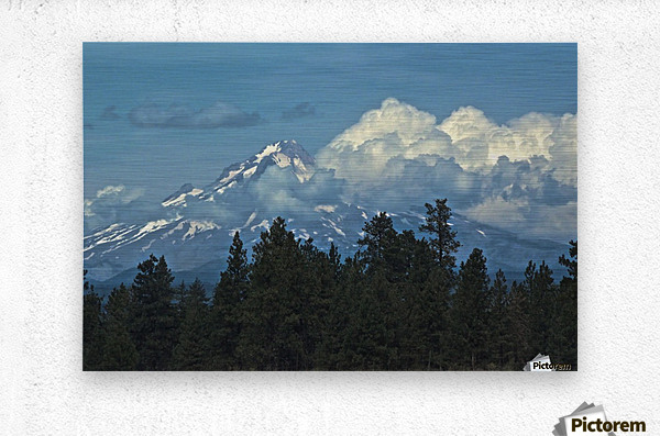 Mt Hood & Clouds  Metal print
