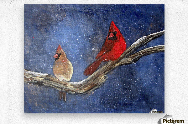 Cardinals  Metal print