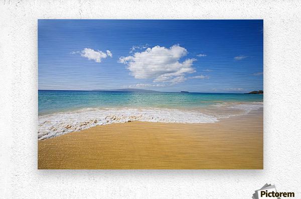 USA, Hawaii Islands, Maui, Big Beach; Makena  Metal print