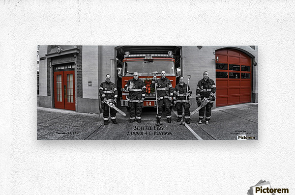 Seattle Fire Department Station 2, Ladder 4 C Colored Doors  Metal print