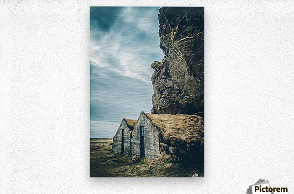 Turf Houses  Metal print