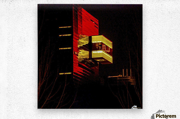 Night at the Guthrie  Metal print
