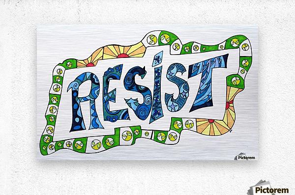 RESIST 3  Metal print