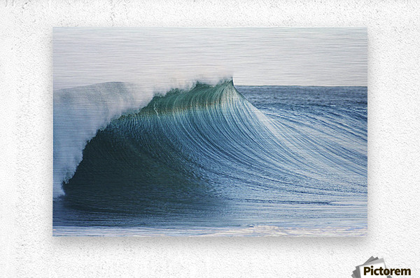 Hawaii, Oahu, Beautiful Wave Breaking.  Metal print