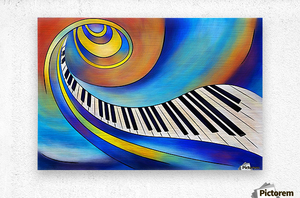 Redemessia - spiral piano  Metal print