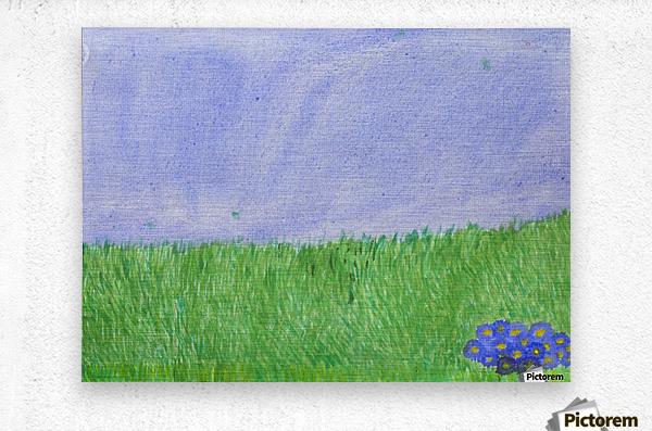 field of grass  Metal print