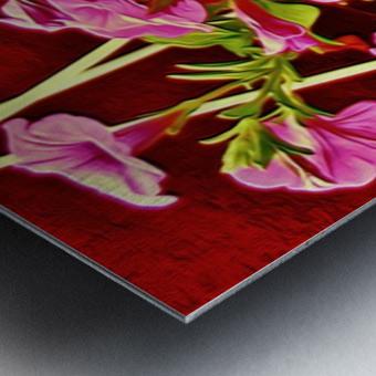 womanflowersEYE Metal print