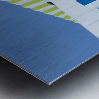 Triple facades Metal print