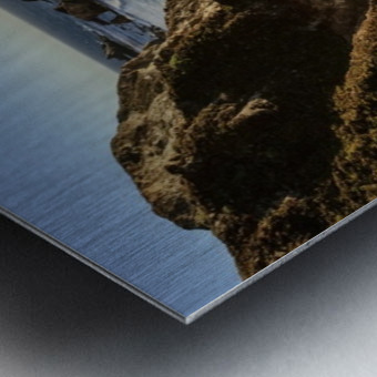 Cliffs along Big Sur coastline near Rocky Creek Bridge on Highway One; California, United States of America Metal print