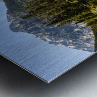 Taggart Lake and Grand Teton, Grand Teton National Park; Wyoming, United States of America Metal print
