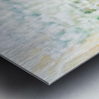 BURST - YELLOW & WHITE Metal print