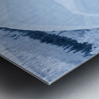 THE WINTER BARN Metal print