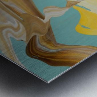 SUN BUBBLE Metal print
