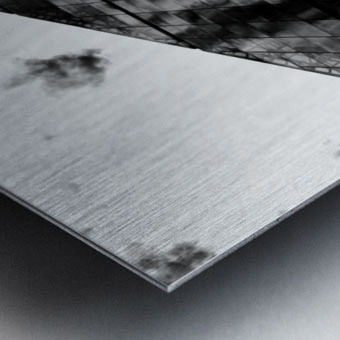 London Skyscraper II - Black and White Metal print