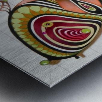 butterfly from the twenties Metal print