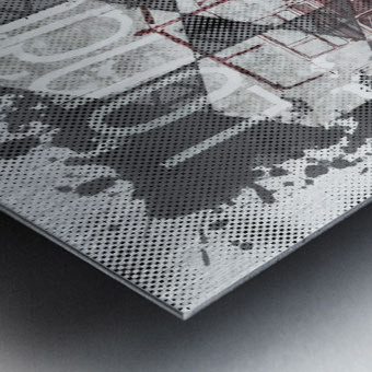 Graphic Art LONDON Streetscene Metal print