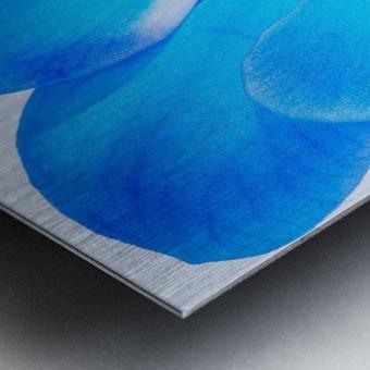 ORCHIDÉE BLEUE Metal print