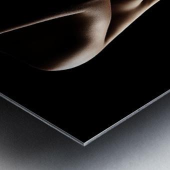 Silhouette of nude woman Metal print