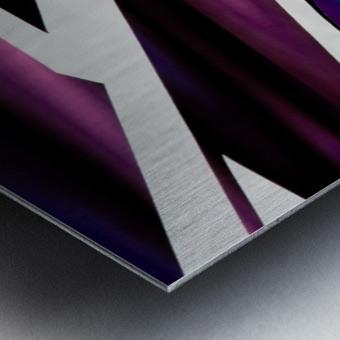 Purple Metal print