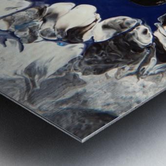 BLACK AND BLUE Metal print