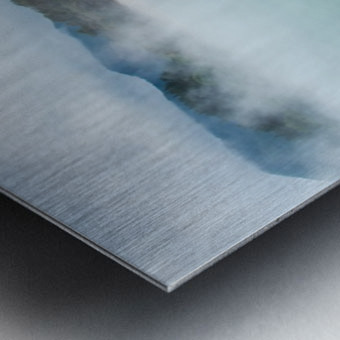 Rotorua Hot pool with steam New Zealand Metal print