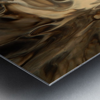 SMOKE ON WATER Metal print