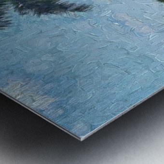 A Monet style Palm Metal print
