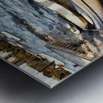 Boats At The Bay Metal print
