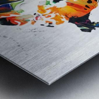 Monde Metal print