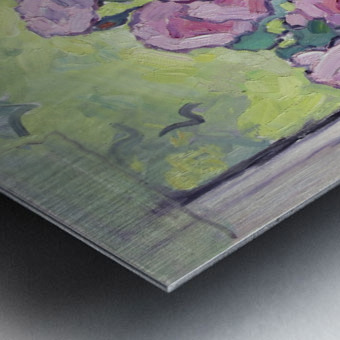 Tea Roses Bouquet on the Windowsill Metal print
