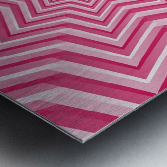 Pink Geometric Design Art Metal print