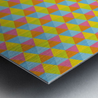 Hexagon Seamless Pattern Artwork Metal print