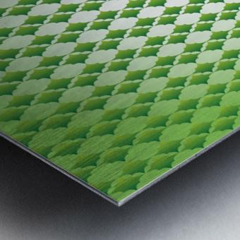 Islamic Art Green Color Artwork Metal print
