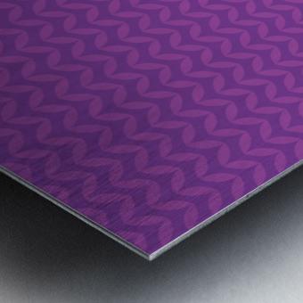 Wavy Seamless Pattern Art Metal print