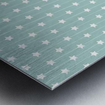 Star Seamless Pattern Art Metal print