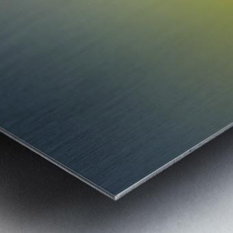 Green Gradient Background Metal print