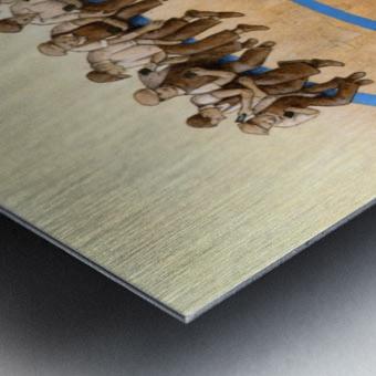 workers Metal print