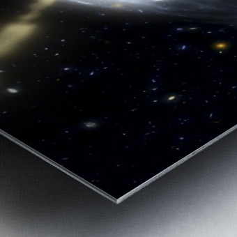 A rare galaxy that is extremely dusty and produces radio jets Metal print