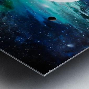 Blue maroon galaxy Metal print