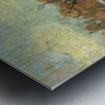 The Seine in Winter Metal print