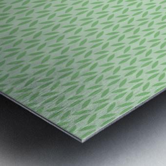 Green Flower Seamless Pattern Background Metal print