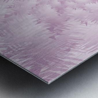 Pink Snowflakes Forest Metal print
