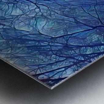 study in blue Metal print